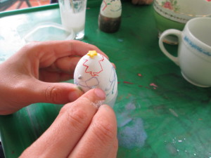 Easter egggs decorating