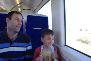 Cliff and Fjord on a previous Gautrain ride