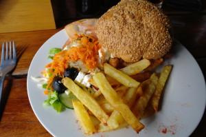 Leopard Rock Chicken Burger