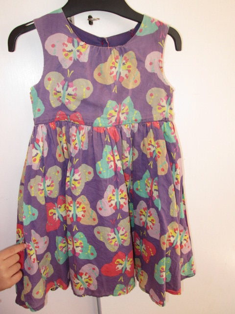The faded Old butterfly dress