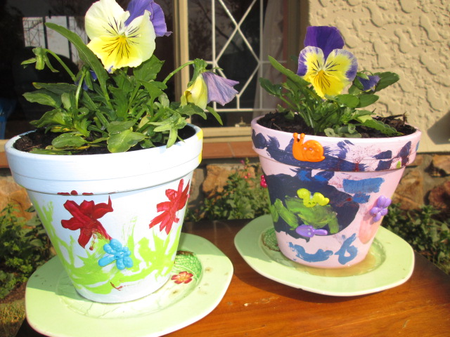 blog kids garden painting clay pots
