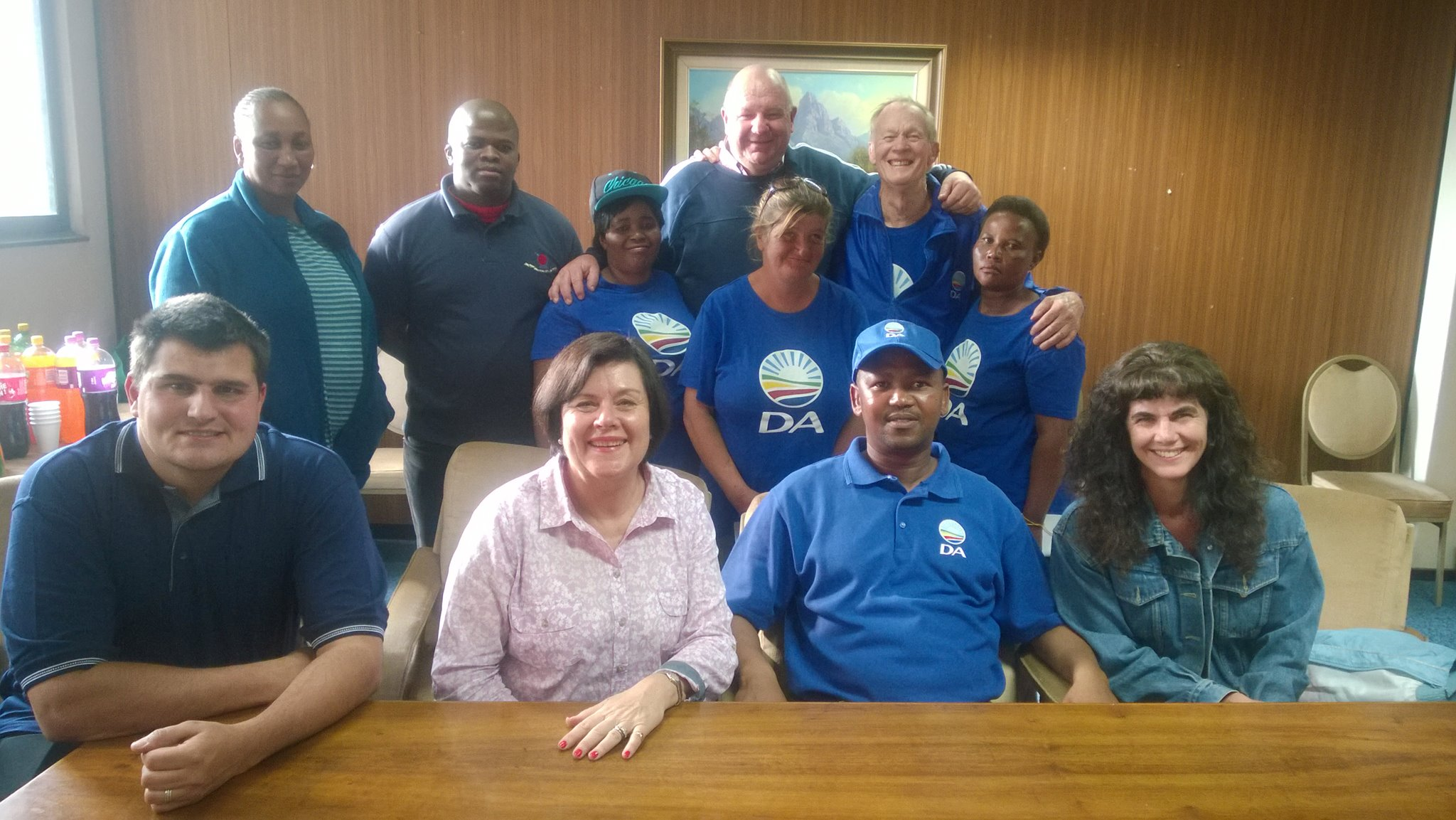 DA WARD 32 AGM,  front far right me and on my left newly elected Chairman Marius