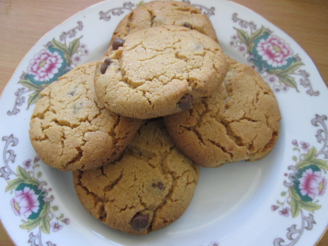 Peanut Butter Cookies with Choc chips
