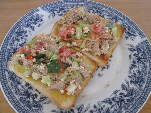 Healthy Tuna Mayo on toast