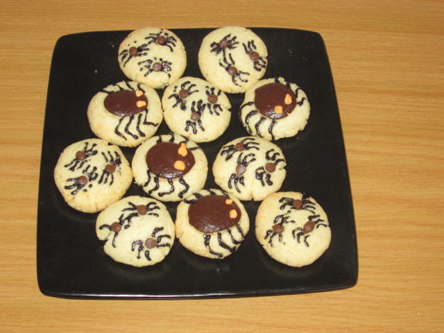 Halloween bug and spider cookies