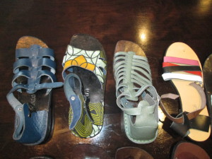 Sample leather shoes