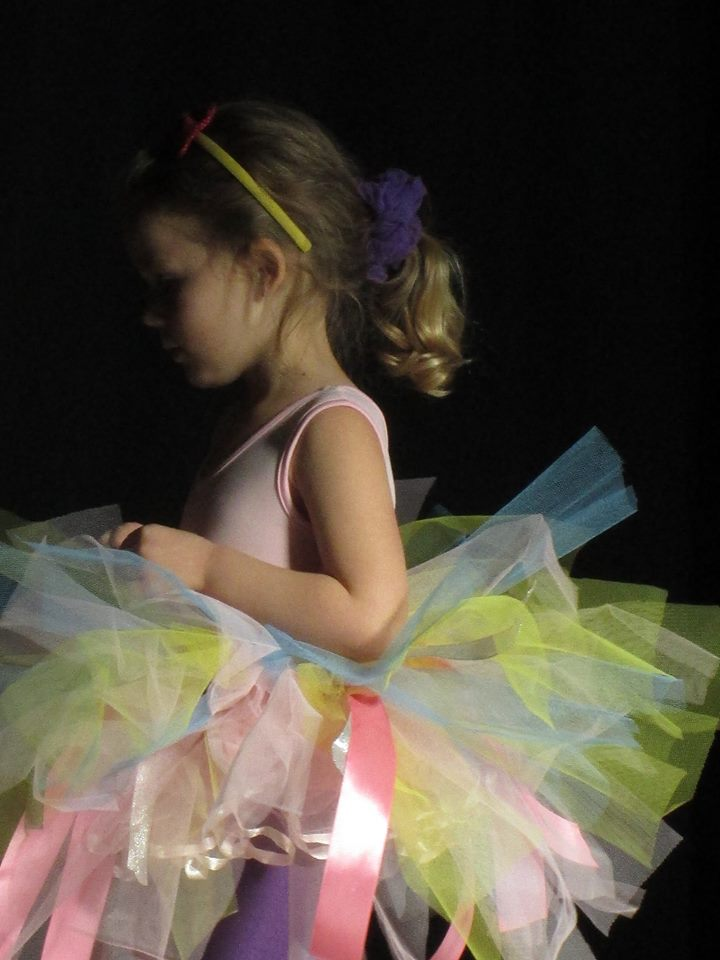 Acacia living her ballet princess dream in an Eisteddfod tutu