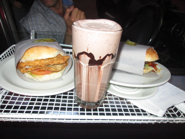 Fireplace Milkshake and burgers