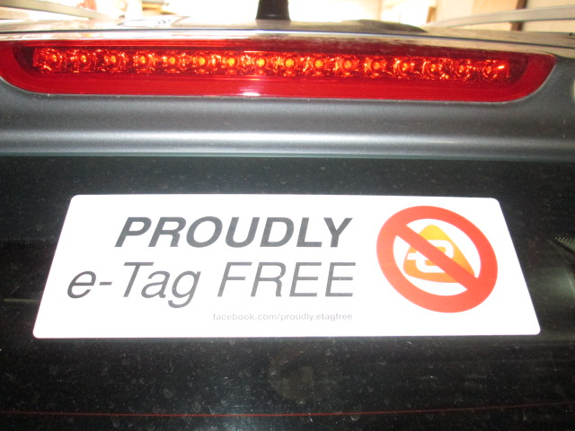 PROUDLY e-Tag FREE