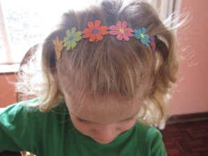 flower trim headband