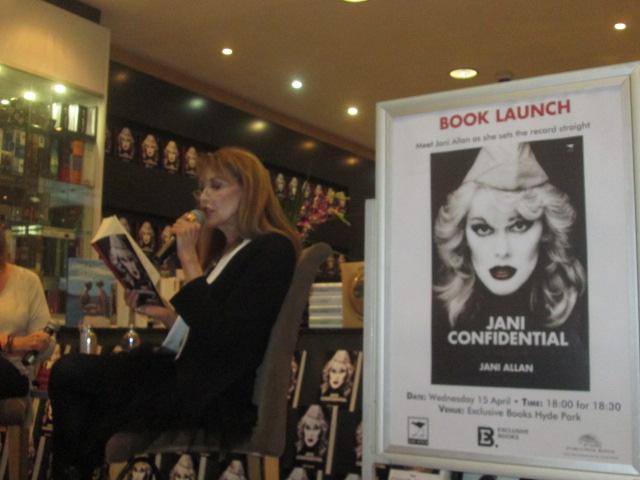 Jani Allan reading from her memoir