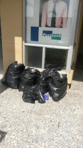 bags of rubbish collected