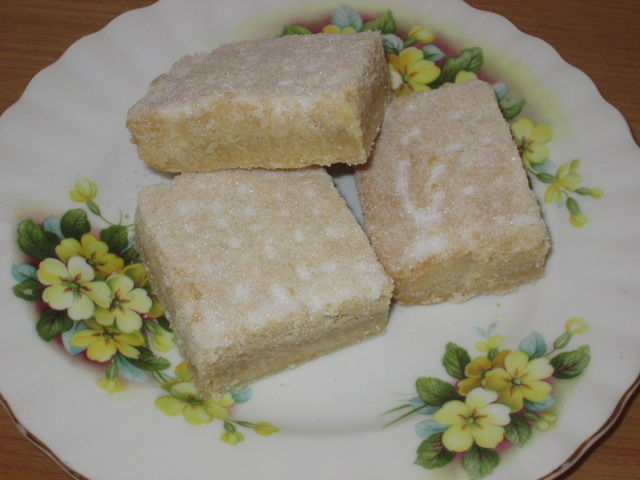 Tweaked Granny's shortbread served on her china