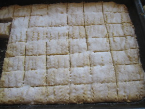 shortbread in tray