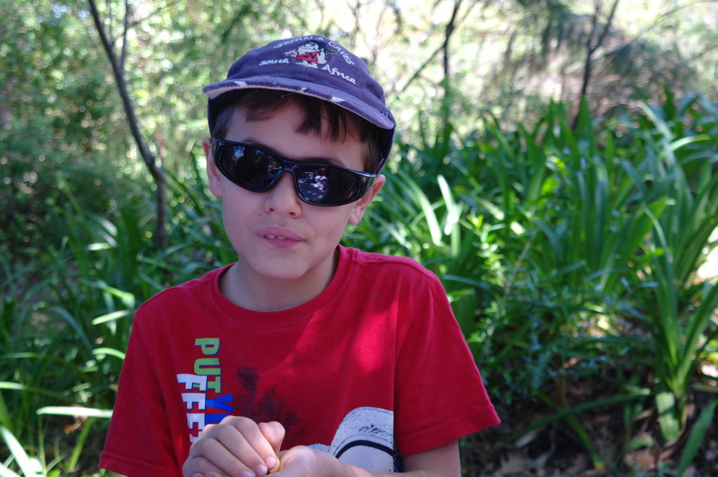 Fjord wearing the Bolt in black and grey in size 7 ( Sport Medium in Sunglasses at School Initiative)