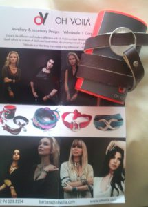 I'm giving Domi this special Proudly Made in SA Oh Voila bracelet as a little thank you