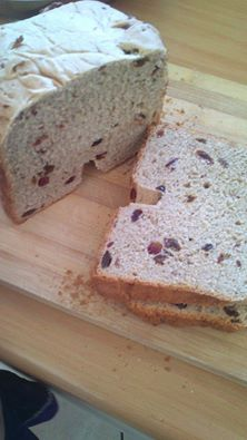 Cinnamon, raisin and cranberry bread