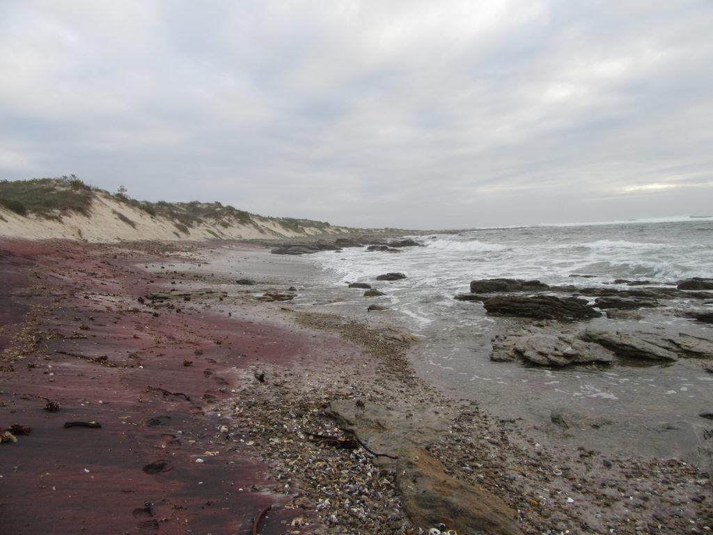 red-black-beach