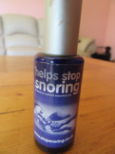"Like Doc Martin said to Louisa ""I have something for you""  Cliff said the same and also presented me with an aid to stop snoring.  He is very happy with the results :)  It contains essential oils and tastes quite nice."