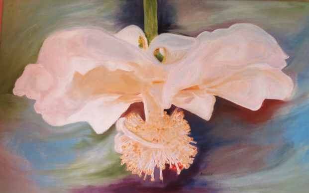 Ballerina Baobab flower, acrylic on canvas 62 cm x 100 cm. R4900